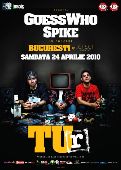 Concert GUESS WHO & SPIKE - TU-R @ Bucuresti