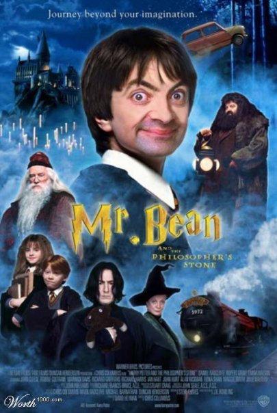 bean potter Mr. Bean in cateva roluri destul de neasteptate: