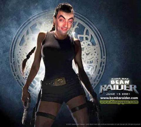 bean raider Mr. Bean in cateva roluri destul de neasteptate: