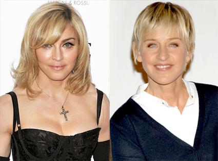 madonna.degeneres Madonna si Ellen DeGeneres separate la nastere? ei bine, tot pe acolo...