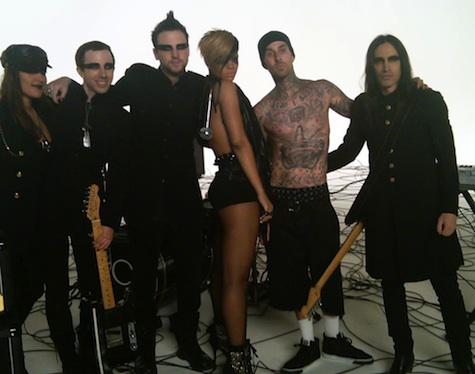 rihanna rockstar video Poze filmari Rihanna   Rockstar 101
