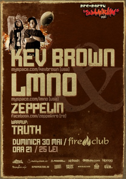 SummerJam preparty – KEV BROWN / LMNO / ZEPPELIN