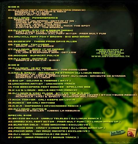 DJ Limun Back Piesa noua Pacha Man   Imi Aduc Aminte + DJ Limun – The Adventures of Lee Moon (mixtape 2010)
