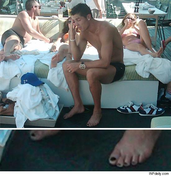 Cristiano Ronaldo Ce pedichiură aveţi, doam...domnule Cristiano Ronaldo!