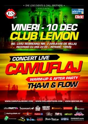 Concert Camuflaj – Club Lemon (Timisoara)