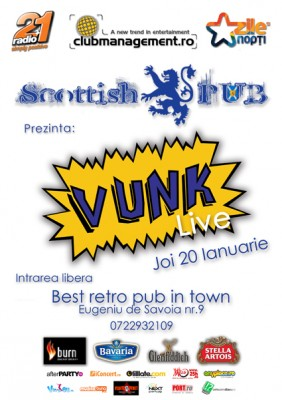Concert Vunk la Scottish Pub din Timisoara www.vedetepenet.ro