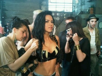 Poze filmări videoclip: Inna - Club Rocker  www.vedetepenet.ro