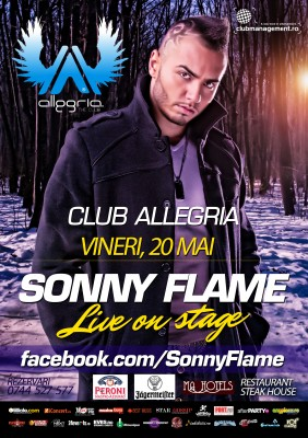 Concert Sonny Flame în Club Allegria din Alba Iulia www.vedetepenet.ro