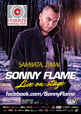 Concert Sonny Flame @ Resident Society Club (Sibiu) www.vedetepenet.ro