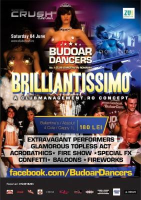 Brilliantissimo by Budoar Dancers @ Crush Constanta - 4 iunie www.vedetepenet.ro
