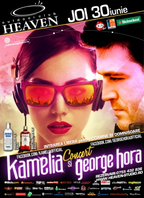 Concert Kamelia şi George Hora @ Outdoor Heaven (Timişoara) www.vedetepenet.ro