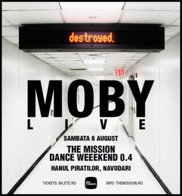 MOBY LIVE The Mission Dance Weekend Ed.04 2011 www.vedetepenet.ro  Noul single Moby – Lie Down in Darkness apare pe 15 august