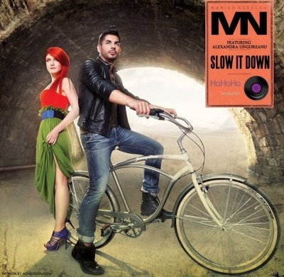 Marius Nedelcu feat Alexandra Ungureanu Slow It Down www.vedetepenet.ro  400x391 Single nou: Marius Nedelcu feat Alexandra Ungureanu – Slow it down