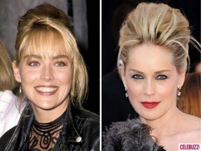 Sharon Stone 400x300 Atunci şi acum. Vedetele de la Hollywood parcă întineresc (foto)