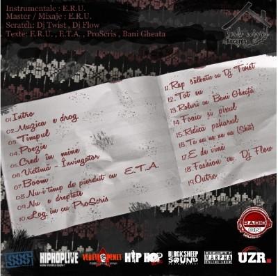 E.R.U. Muzca e drogtracklist www.vedetepenet.ro  400x396 Album: E.R.U.   Muzica e drog (Download)