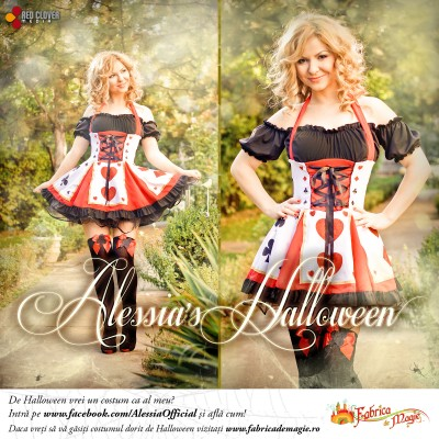 alessia halloween comunicat www.vedetepenet.ro  400x400 Alessia le oferă fanilor un costum de Halloween