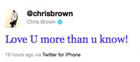 chris tweet rihanna wwwvedetepenet.ro 1 Rihanna şi Chris Brown, din nou împreună?