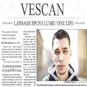 lansare Vescan www.vedetepenet.ro  Vescan Spune lumii în Wings Club Bucureşti
