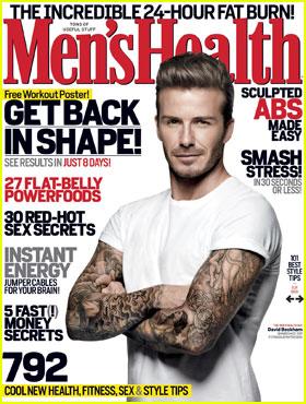 david beckham coperta revista mens health www.vedetepenet.ro  David Beckham, pe coperta Mens Health
