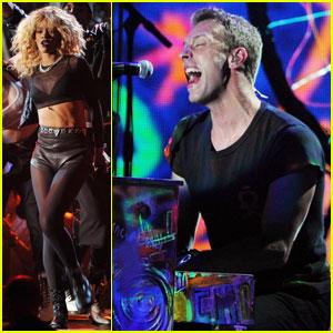 rihanna coldplay live grammy 2012 www.vedetepenet.ro  Rihanna + Coldplay (Live @ Grammy Awards)