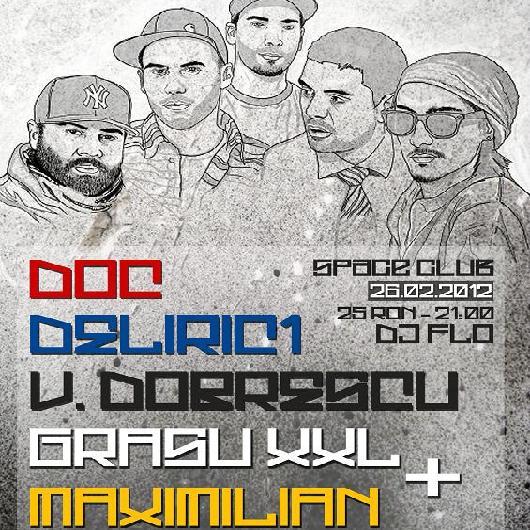 space club concertwww.vedetepenet.ro  Concert: DOC, Deliric 1, Vlad Dobrescu, Grasu XXL, Maximilian @ Space Club