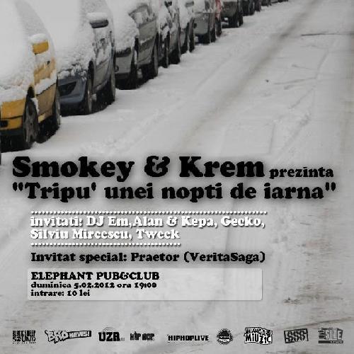 tripu de iarnawww.vedetepenet.ro  Câştigă 2 invitaţii duble la concertul Smokey & Krem – Tripu' unei nopţi de iarnă