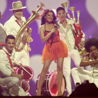 "Mandinga of Romania perform their song ""Zaleilah"" vedetepenet.ro"