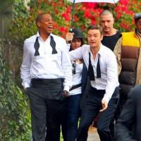 justin timberlake jayz poze filmari videoclip vedetepenetro 200x200 Justin Timberlake și Jay Z filmează videoclipul pentru Suit&Tie (poze)