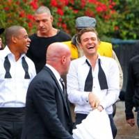 justin timberlake jayz poze filmari videoclip3 vedetepenetro 200x200 Justin Timberlake și Jay Z filmează videoclipul pentru Suit&Tie (poze)