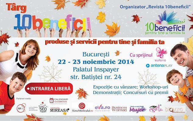 """10644545 838522769526163 4752109117212146478 n Workshop uri din cadrul """"Targului 10beneficii"""", 22 23 noiembrie 2014, Palatul Inspayer, Bucuresti"""