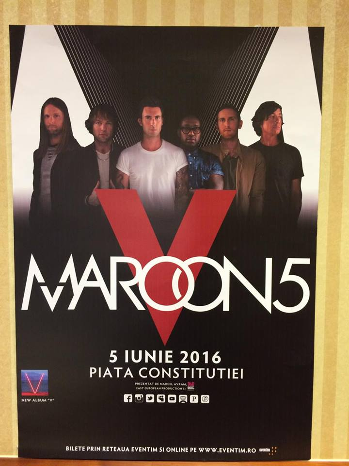 Maroon 5 va concerta pentru prima data in Romania www.vedetepenet.ro