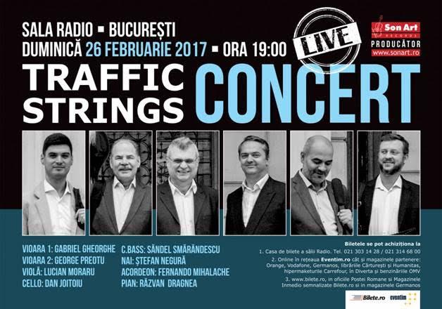 Primul concert al trupei TRAFFIC STRINGS din anul 2017 www.vedetepenet.ro