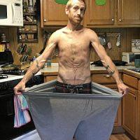 Imagini SOCANT! Americanul care a pierdut peste 90 de kg in 6 luni consumand sange menstrual