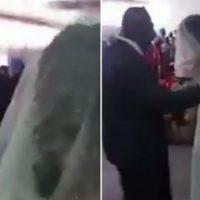 Imagini VIDEO cu momentul in care amanta unui barbat apare la nunta sa, imbracata in rochie de mireasa