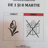 Imagini Intr-un liceu din Braila au fost interzise cadourile scumpe de 1 si 8 Martie SHARE daca esti de acord cu aceasta metoda